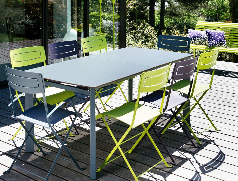 Tables aluminium Fermob de couleur | Jardin | Pinterest | Extensions
