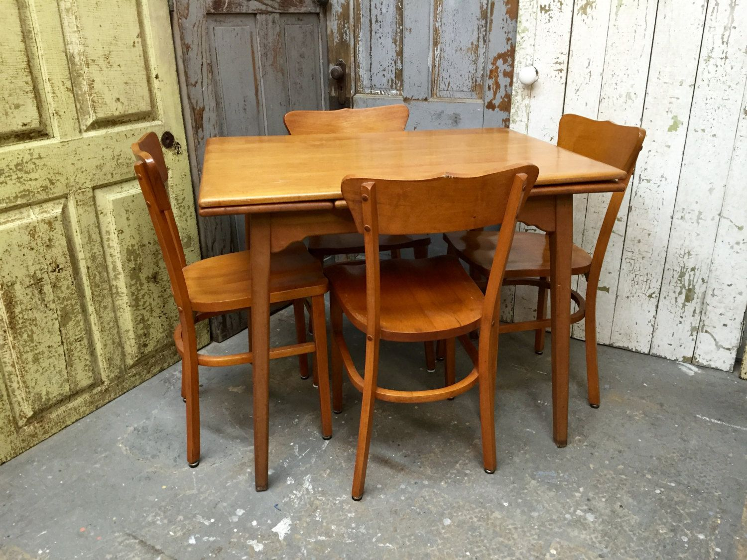 Small Dining Set Wooden Dining Table Small Wooden Table Expandable Table 1960s Furniture Kitchen Dining Set Real Wood Furniture Real Wood Furniture Wooden Dining Tables Small Dining Sets
