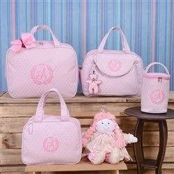 eeddfc00f Conjunto de Bolsas Maternidade Valência Inicial do Nome Personalizada A Rosa