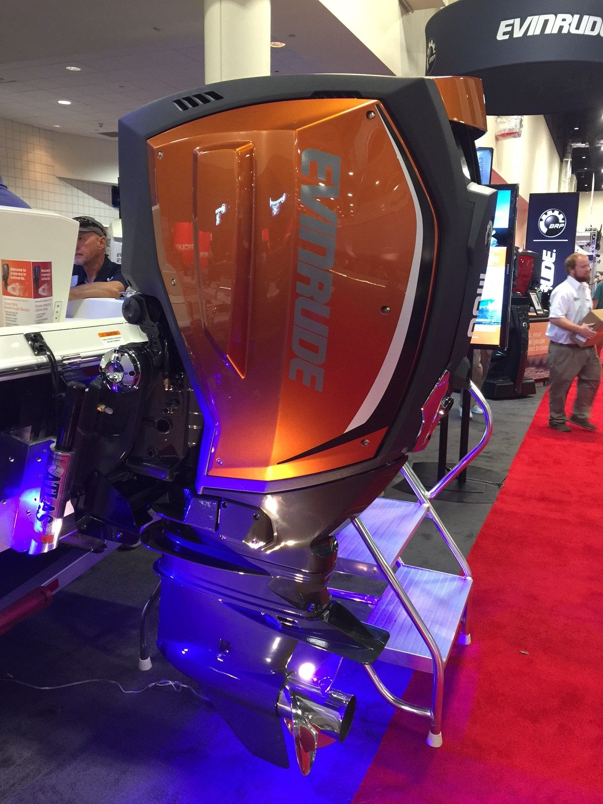 Evinrude showed off its new G2 E-TEC two-stroke outboards at