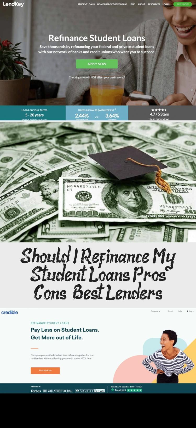 Should I Refinance My Student Loans Pros Cons Best Lenders Student Loans Credit Score Student
