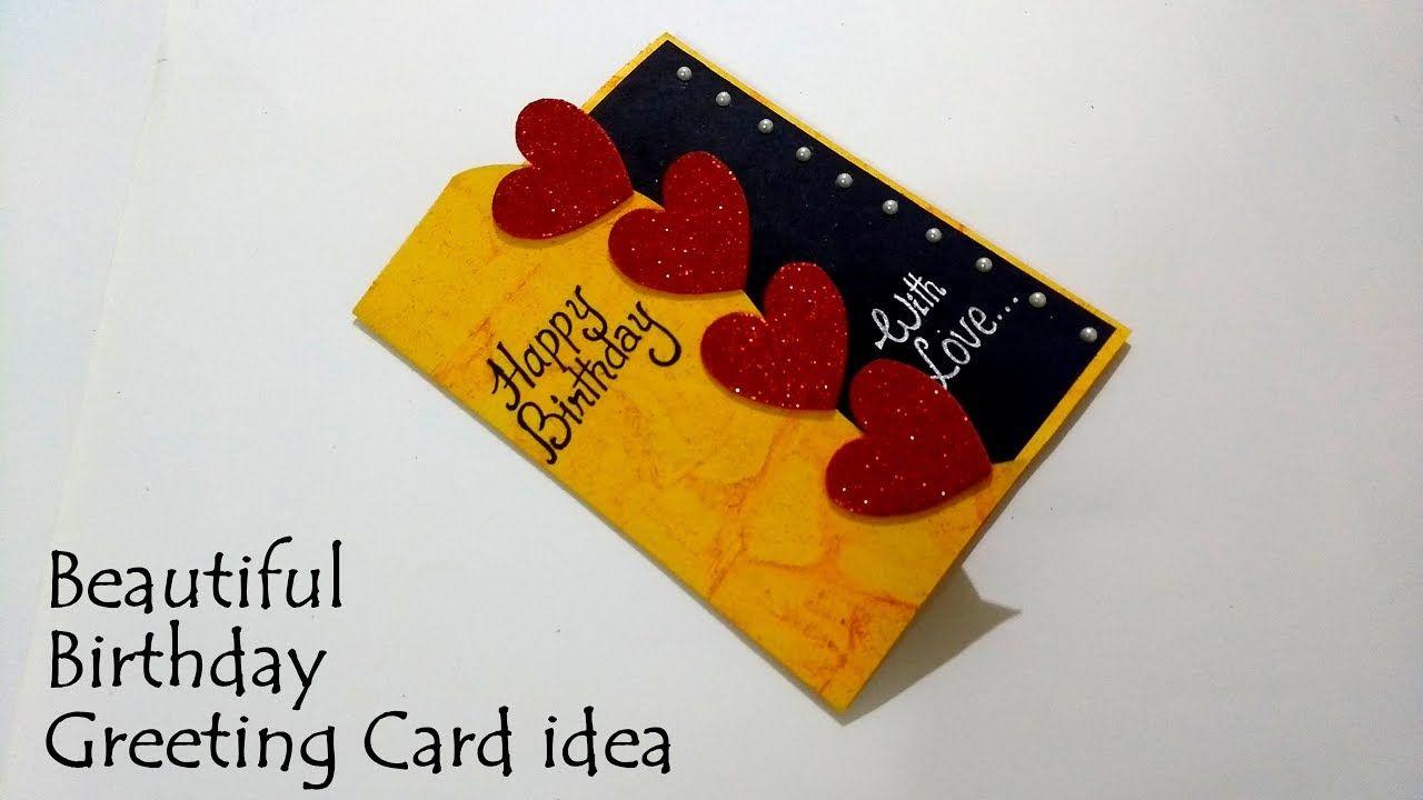 Beautiful Birthday Greeting Card Idea Diy Birthday Card