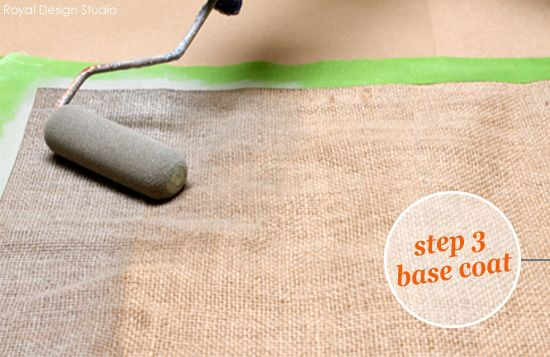Stencil A Fall Table Runner How To From Royal Design Studio Using Chalk Paint