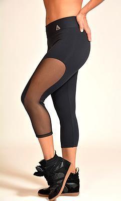 Up Vibe Hot Mesh Capris, up vibe fitness clothes capris, print leggings capris
