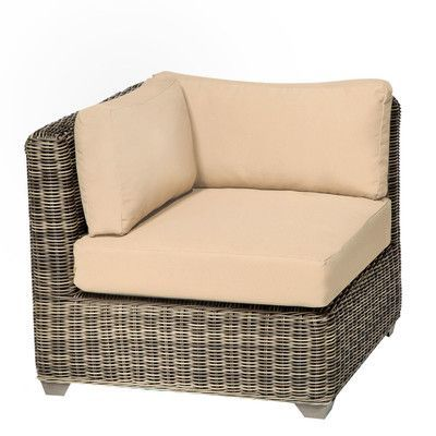 TK Classics Cape Cod Corner Sectional Chair with Cushions Finish: