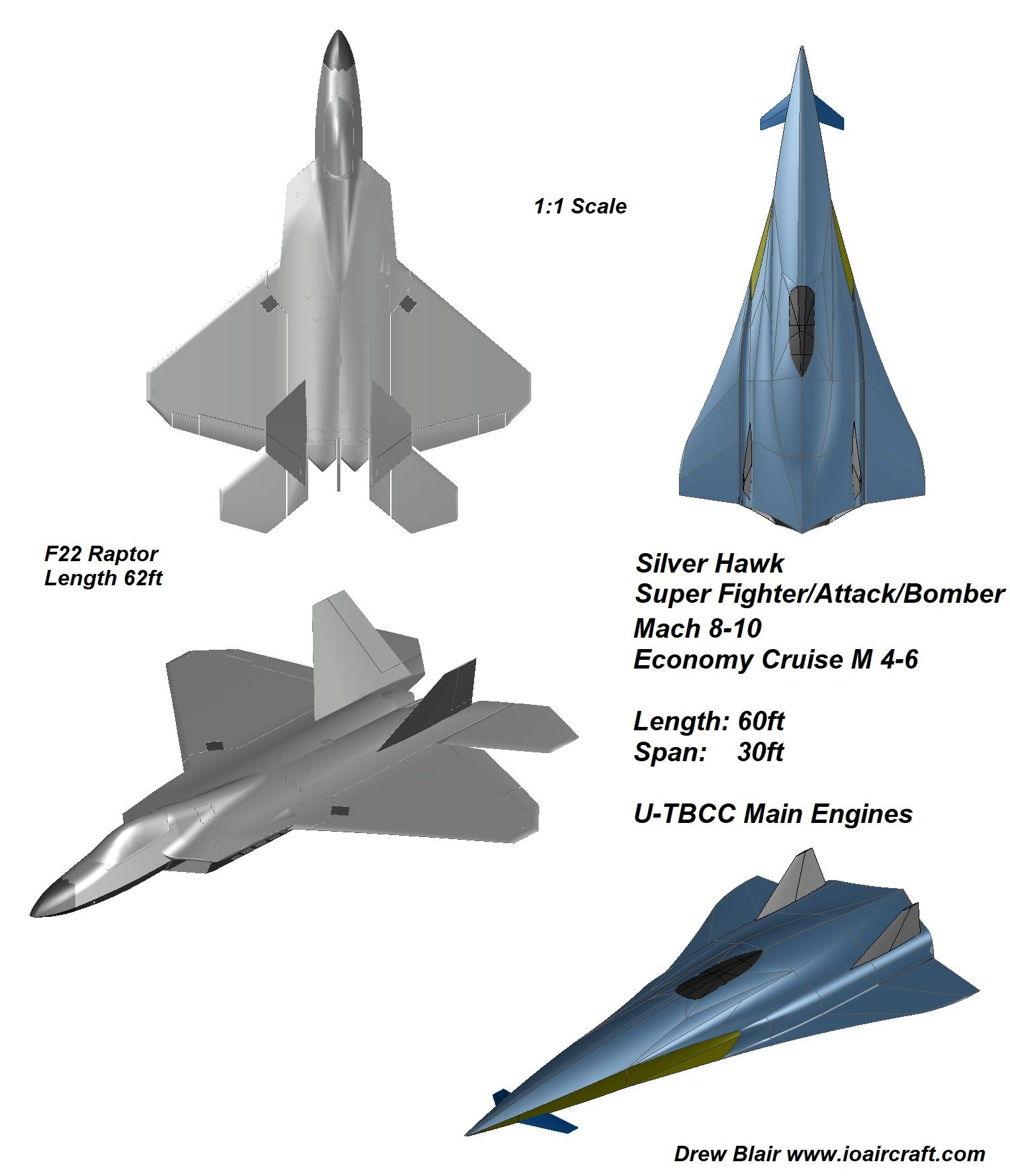 8th Gen Mach 8 10 Hypersonic Fighter Plane F22 Rapotor Size Comparison Silver Hawk Io Aircraft Aircraft Fighter Jets Fighter
