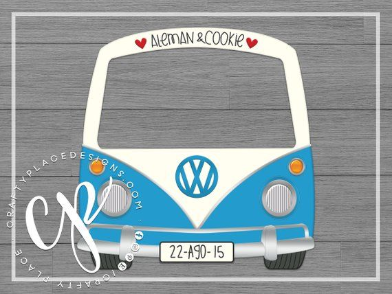 Car Photo Booth Frame Vw Bus Photo Booth Prop Wedding Photo
