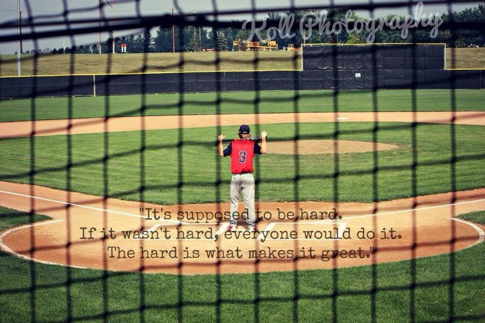 Baseball quotes sports Baseball senior pictures