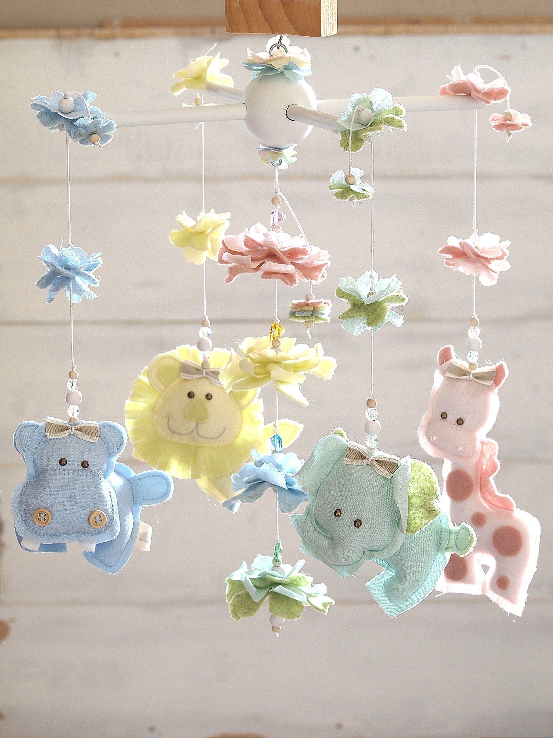 Baby cribs for free - Colorful Jungle Mobile With Swarovski Crystals Safari Nursery Decor Baby Crib Mobile Free
