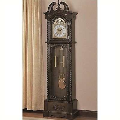 Other Home D cor Clocks 20562  Coaster Home Furnishings 900721 Traditional  Grandfather Clock  Brown. Other Home D cor Clocks 20562  Coaster Home Furnishings 900721