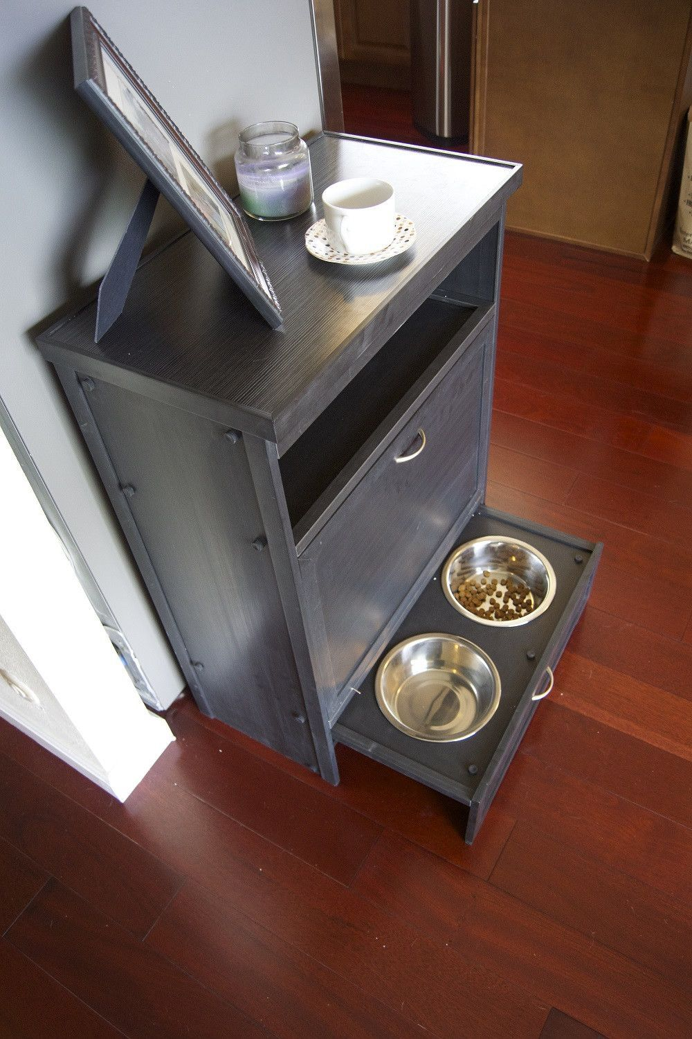 Darla S Pet Pantry Feeder And Storage Furniture I Wonder If Ike Could Mske This