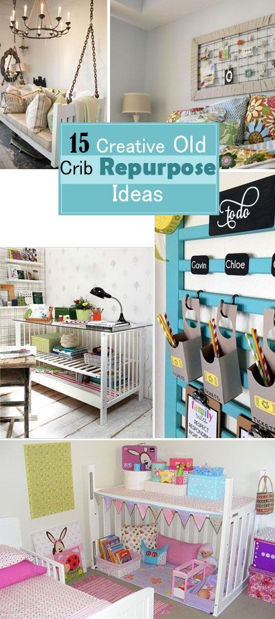 Great ideas to repurpose the old crib!   Ideas for the House ...