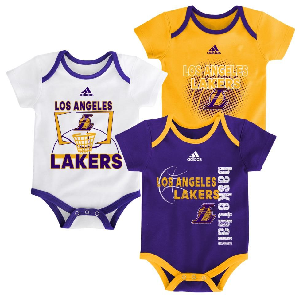 e7e52b336dd Lakers Infant 3 Point Bodysuit Set