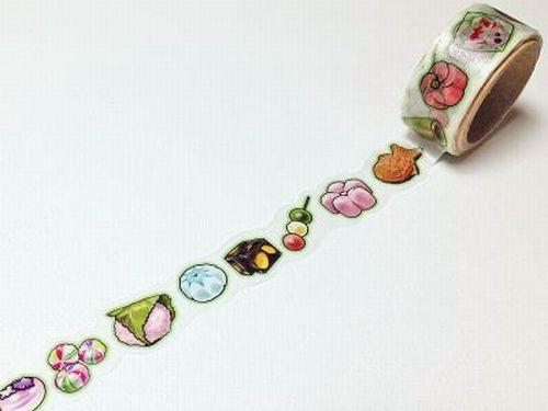 Japanese Sweets - Round Top Yano Design, Natural Vol.2 - Japanese Washi Masking Tape - Kawaii Collage, Gift Wrapping - JapanLovelyCrafts