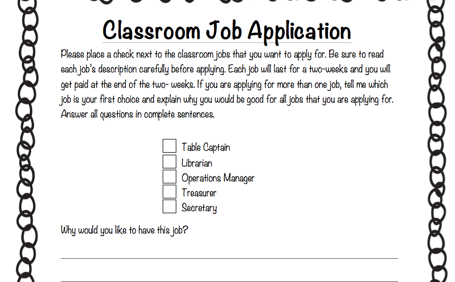 Fancy Free In Fourth Classroom Job Applications Whoo Bag