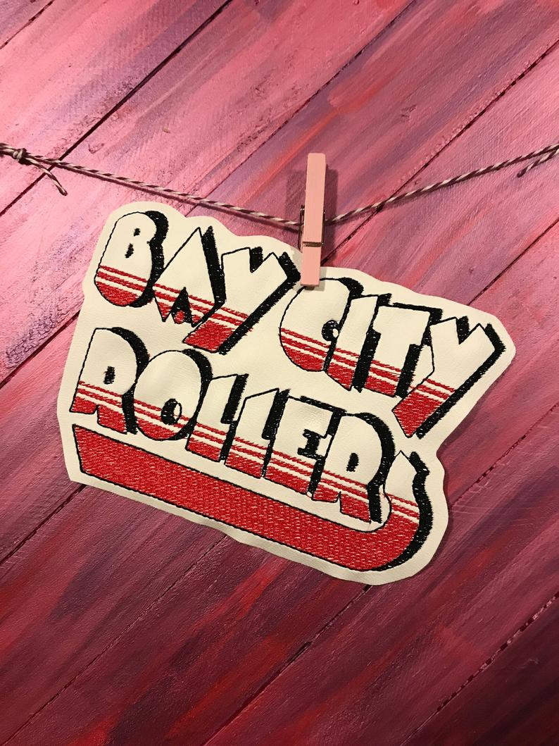 Embroidered Bay City Rollers Single Design For Machine Embroidery 5x7 Hoop Bearly There Art In 2020 Machine Embroidery Embroidered Embroidery