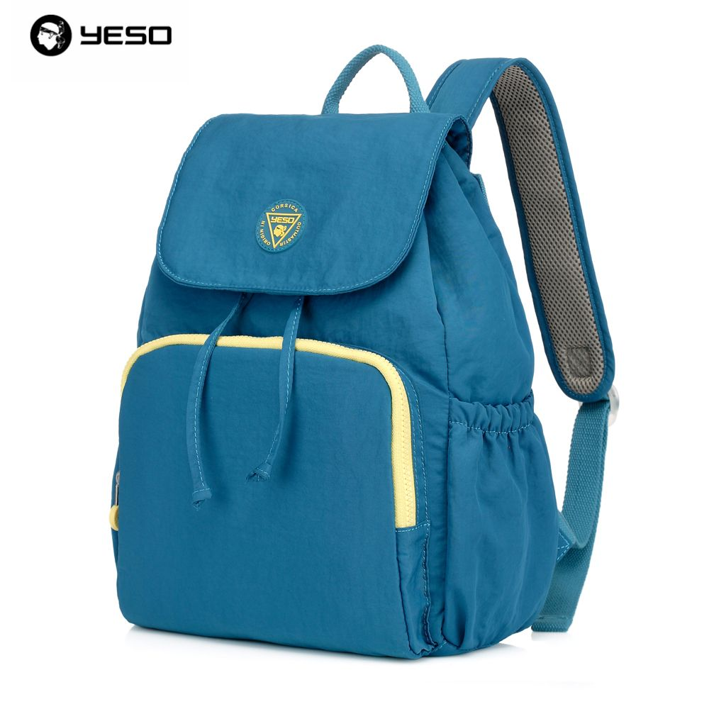 92b15c70311 YESO Brand Korean Waterproof Nylon Backpack for Men Women Hit the Color  Multifunction Package Men s College