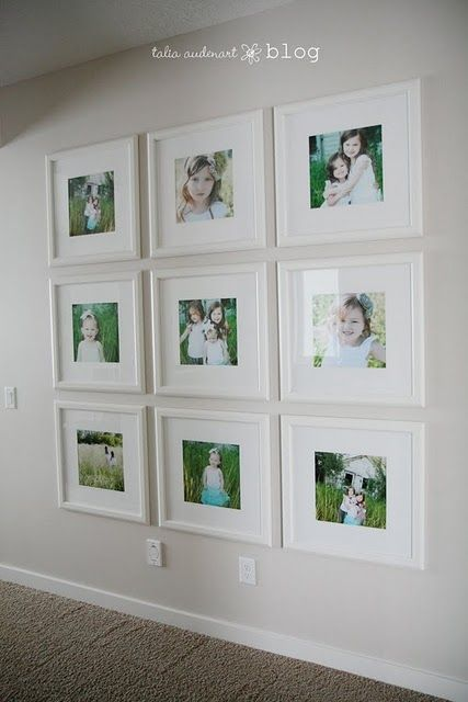 Love how clean this looks--nice big, simple frames so that the ...