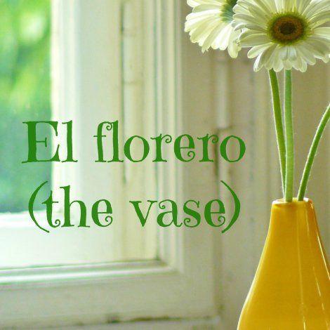 El Florero The Vase Spanish Language Learning Vocabulario