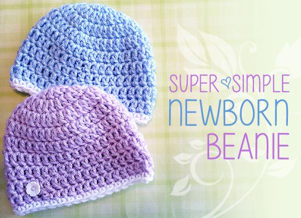 Super Simple Newborn Beanie, Free Crochet Pattern; Charity Hat, Hats ...