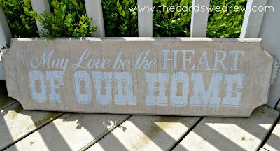 May love be the heart of our home wood sign with tutorial