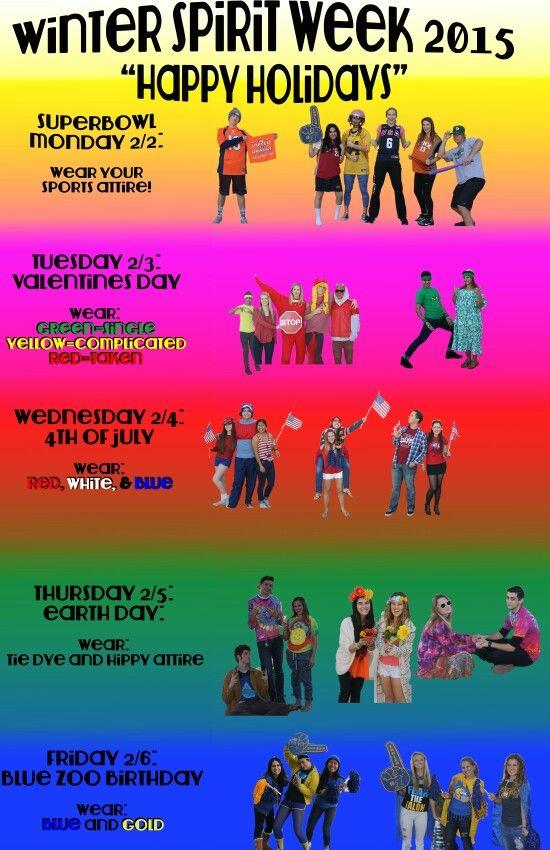 Arroyo Grande High School Spirit Week Poster School Stuff For