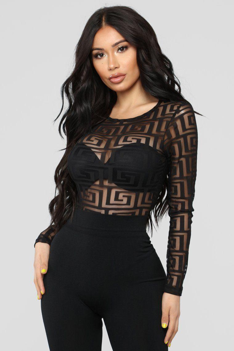 Cool Status Bodysuit Black Fashion nova bodysuit