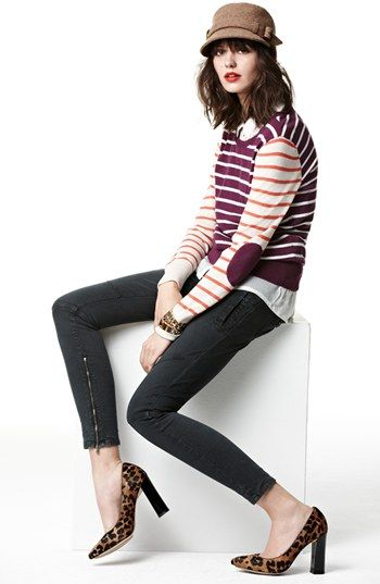 Fall 2013. Halogen® Sweater, Lucky Brand Shirt & Paige Denim Jeans  available at #Nordstrom.