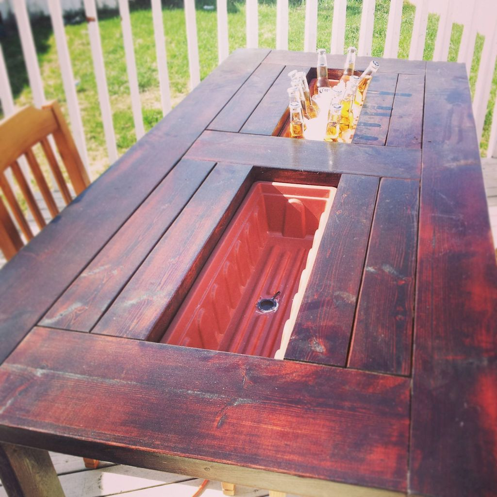 55 Patio Table Ideas On A Budget With Images Deck Table Diy Patio Table Diy Outdoor Table