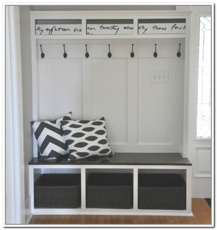 Storage Bench With Coat Rack Ikea Entryway Storage Diy