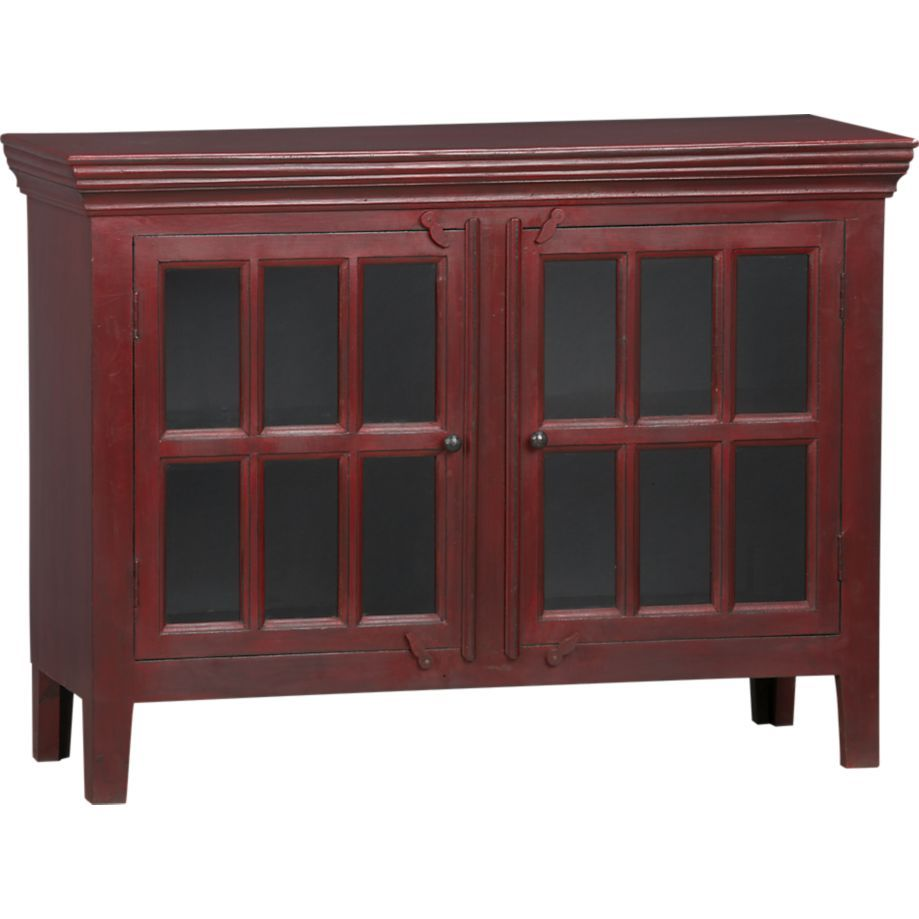 Rojo red 46 media storage cabinet in media stands consoles crate and barrel