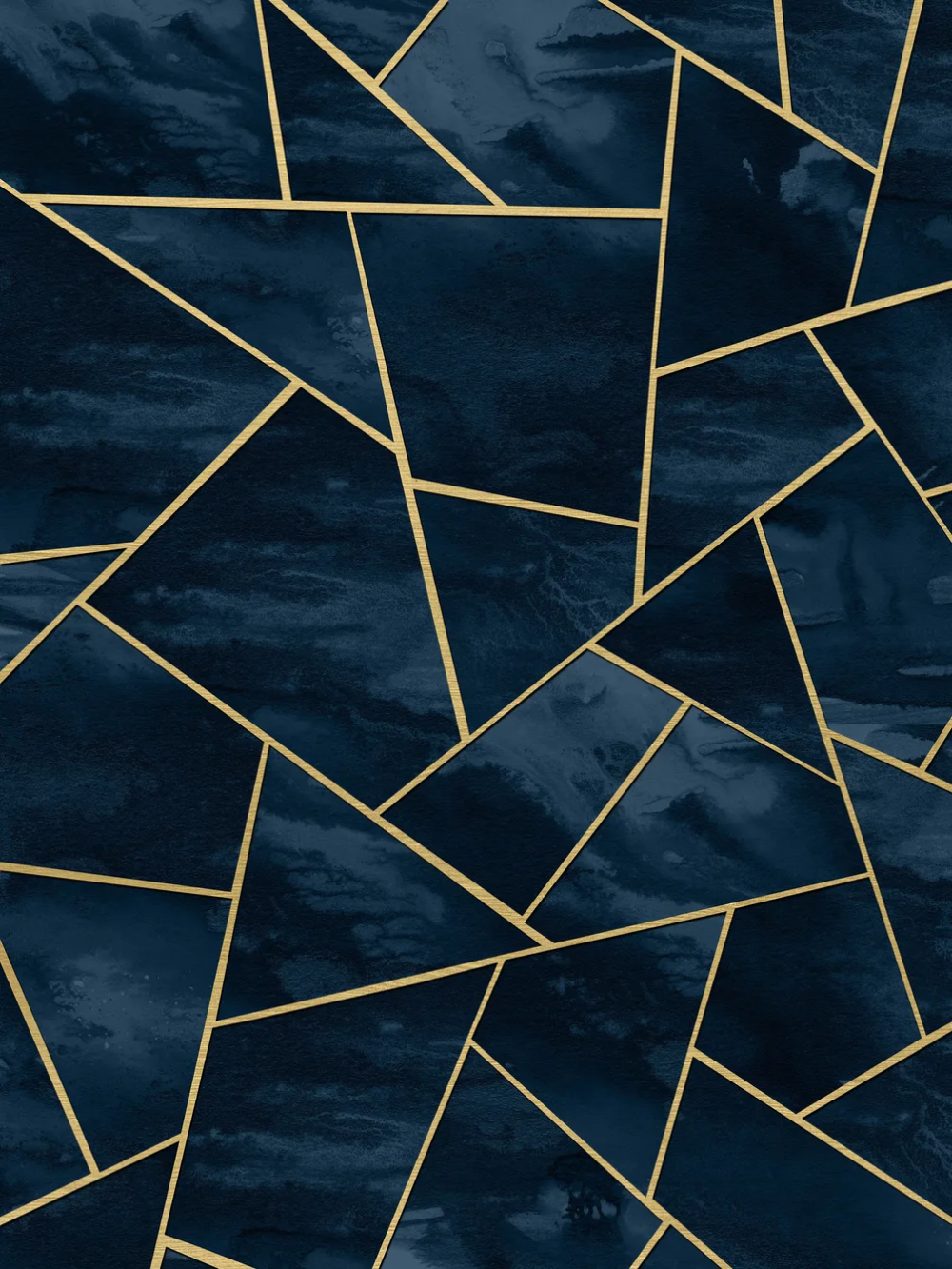 Navy Blue Gold Geometric1 Wall mural in 2020 Blue and