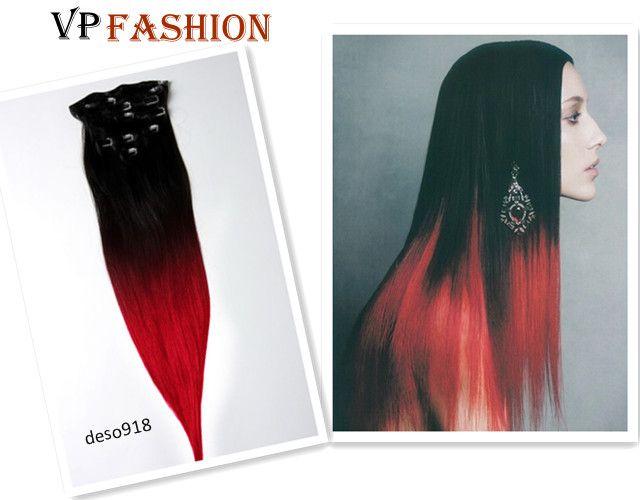 Schwarz Rot Ombre Hair Extensions Von Vpfashion Deblogvpfashioncom