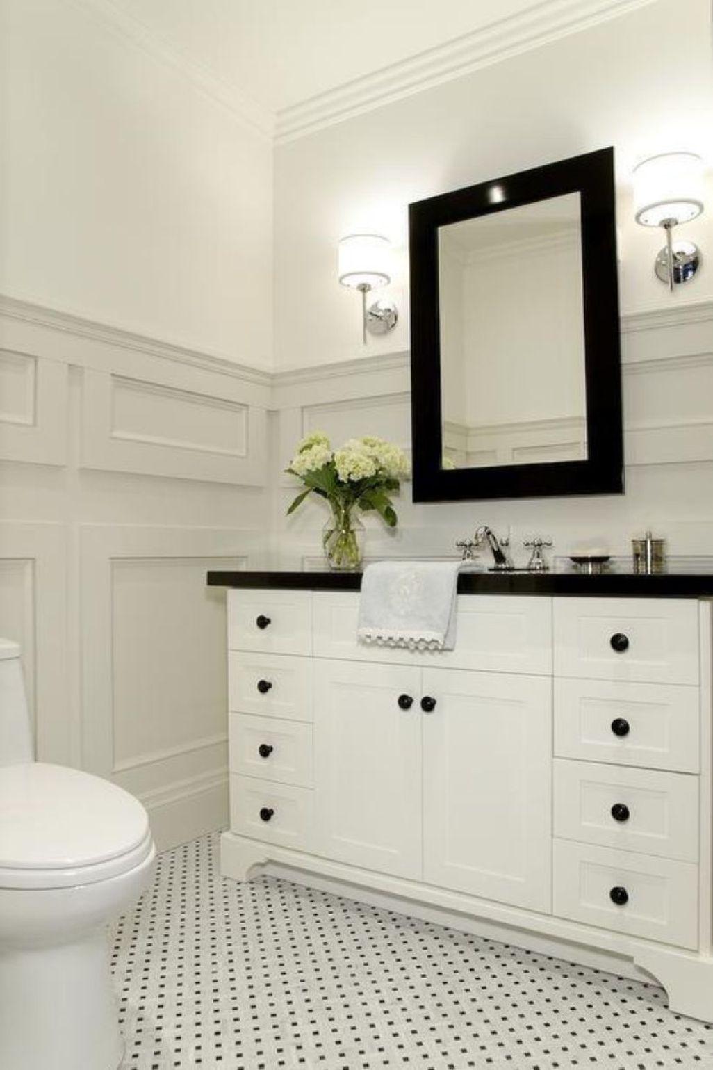 50 Cheap Black White Bathroom Design Ideas | Pinterest | Black white ...