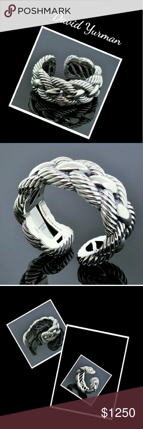 David Yurman NO Trades Authentic 25 MM Wide Hinge Cable Bracelet  Sales Only Siver EUC Preloved Gently David Yurman Jewelry Bracelets
