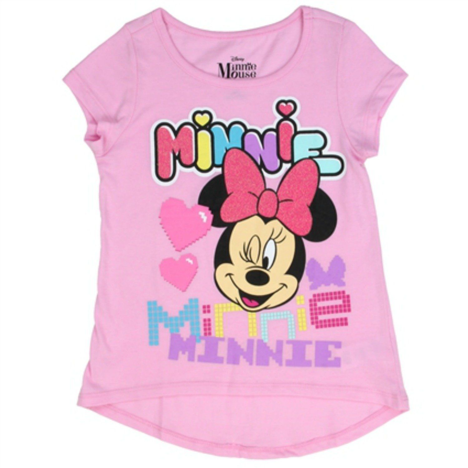 Amazon.com: Disney Girls' Minnie Mouse T-Shirt: Pink Clothing