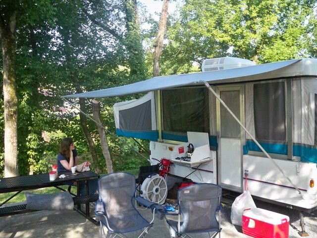 Diy Awning Made Camped In A Many Of These Good Times