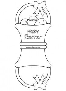 Easter Card Template Archivi Easter Template Easter Templates Easter Cards Easter Basket Cards