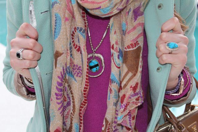 Mint, Turquoise, & Purple