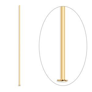 Head Pin, gold-plated brass, 1-1/2 inches, 24 gauge. Sold per pkg of 100.