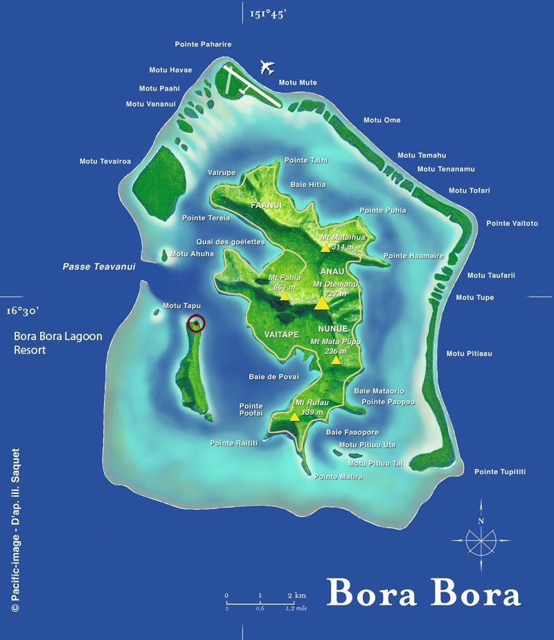 bora bora lagoon | bora bora lagoon resort map | My ...