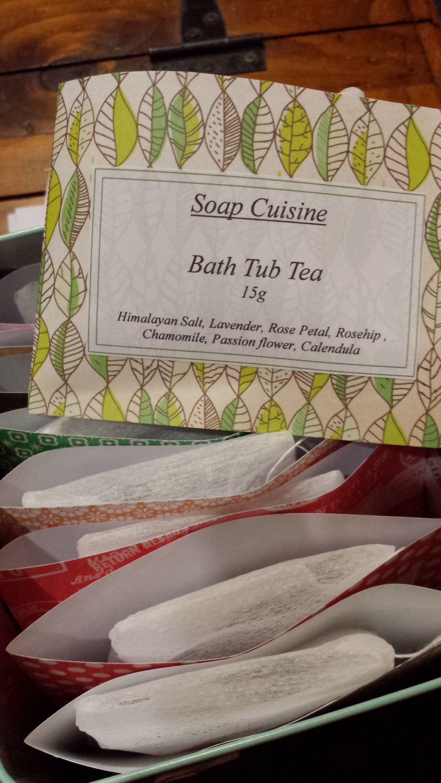 It's bath time with Soap Cuisine, enjoy a relaxing bath with these Bath Tub Teas.