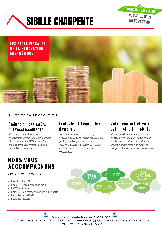 Les Aides Fiscales De La Renovation Energetique Renovation Energetique Energetique Charpente