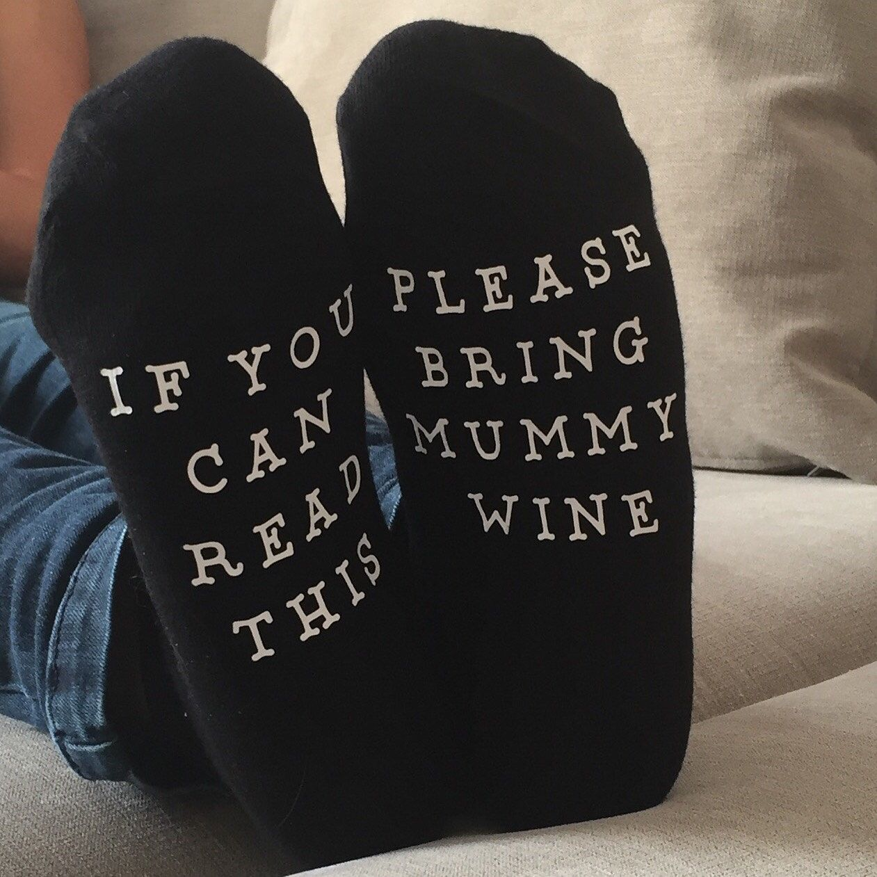 Personalised Socks If You Can Read This Bring Socks Funny