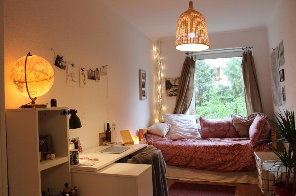 Einrichten Schlafzimmer ~ Herbstliche einrichtungsidee mit warmer beleuchtung fürs