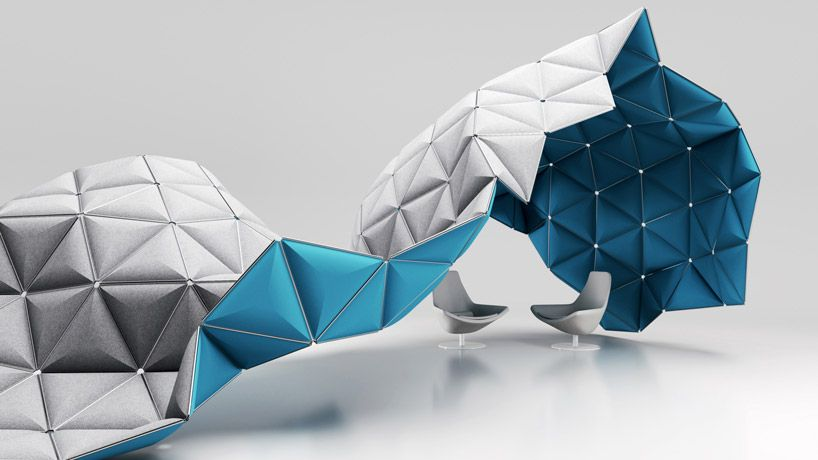 modular space frame structures by formkind Office Pinterest - innovative raumteiler system