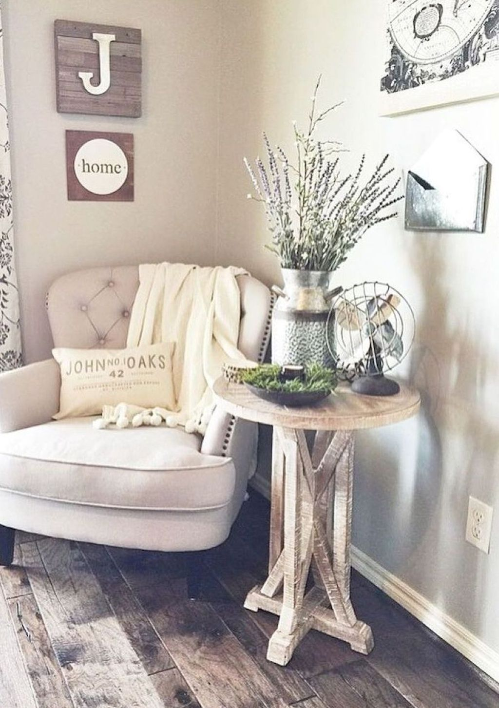 80 Best Rustic Farmhouse Living Room Decor Ideas | Farmhouse living ...