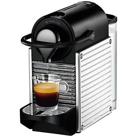 Nespresso Pixie Automatic Coffee Machine by KRUPS, Titanium