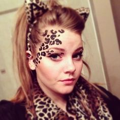 leopard make up halloween | Halloween | Pinterest | Leopard makeup ...