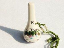 6 Hole Ocarina Wine Bottle Style Hand Painted - Soprano C
